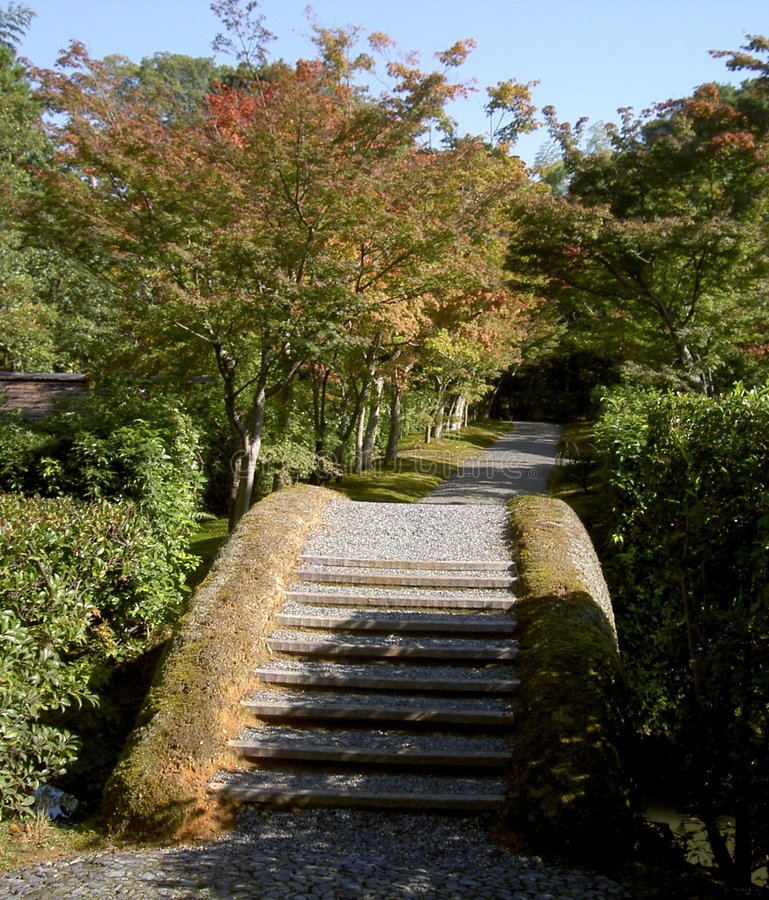 Japanische Brücke Und Schatten Stockfotografie