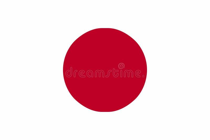 Japanische Flagge stock abbildung