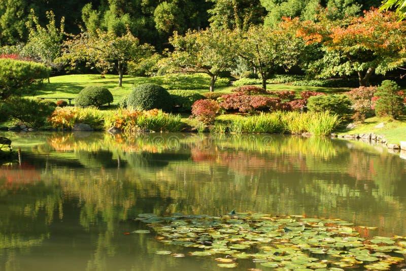 Japanische Gärten lizenzfreie stockfotos