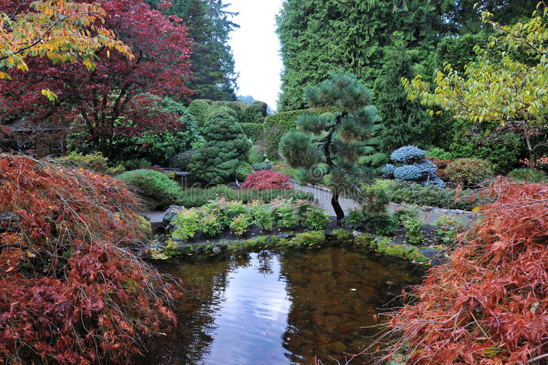 Japanische Gärten lizenzfreie stockfotografie