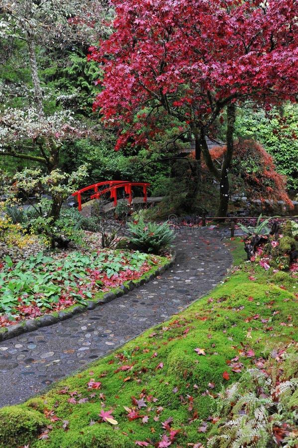 Japanische Gärten lizenzfreies stockbild