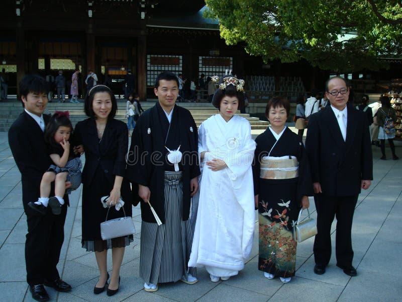 Japanische Hochzeit stockbild