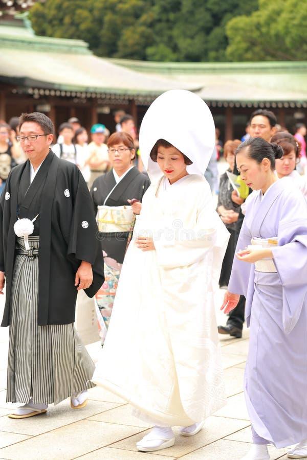 Japanische Hochzeitszeremonie stockbild