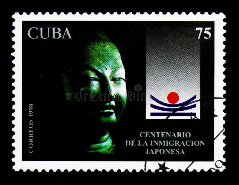Japanische Immigration, Jahrhundert des ersten japanischen Immigranten zu Kuba-serie, circa 1998 stockbild