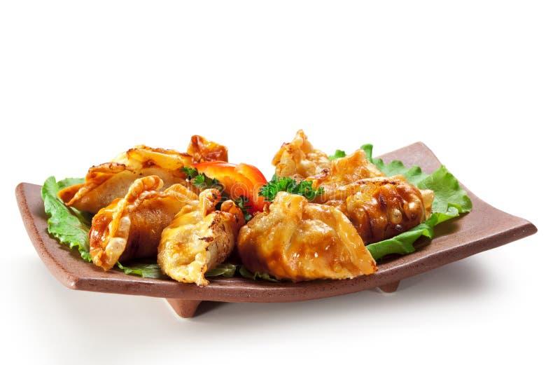 Japanische Küche - Fleisch-Mehlklöße stockbilder