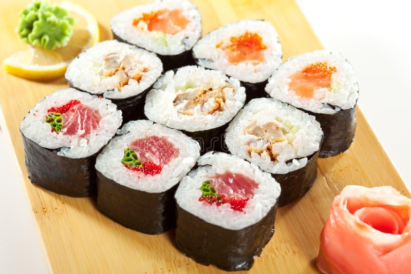 Japanische Küche - Sushi stockbilder