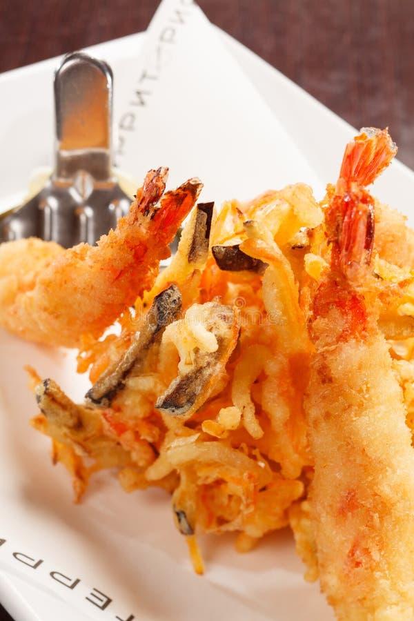 Download Japanische Küche - Tempura-Garnelen Stockfoto - Bild von petersilie, fett: 26374776