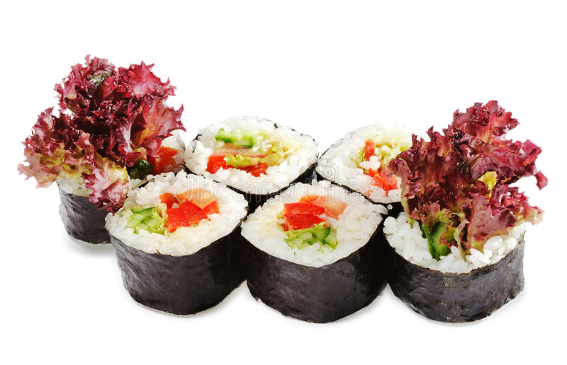 Japanische Küche - vegetarisches Sushi stockfotografie