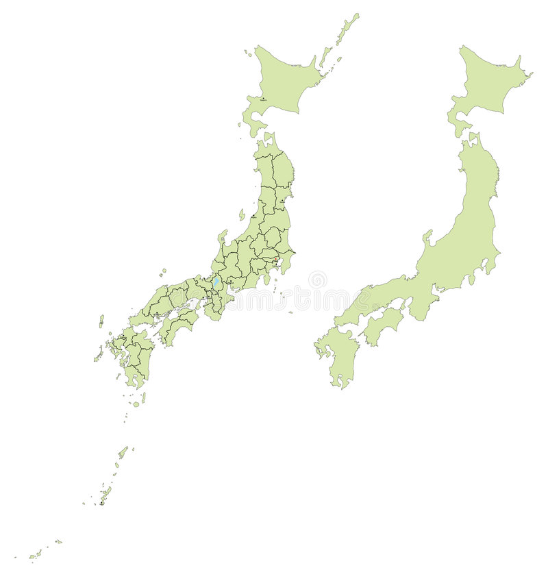 Japanische Karte lizenzfreie abbildung