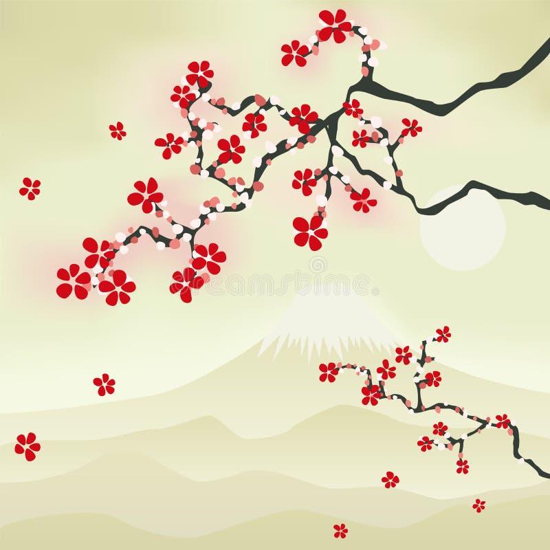 Japanische Kirschblüte stock abbildung