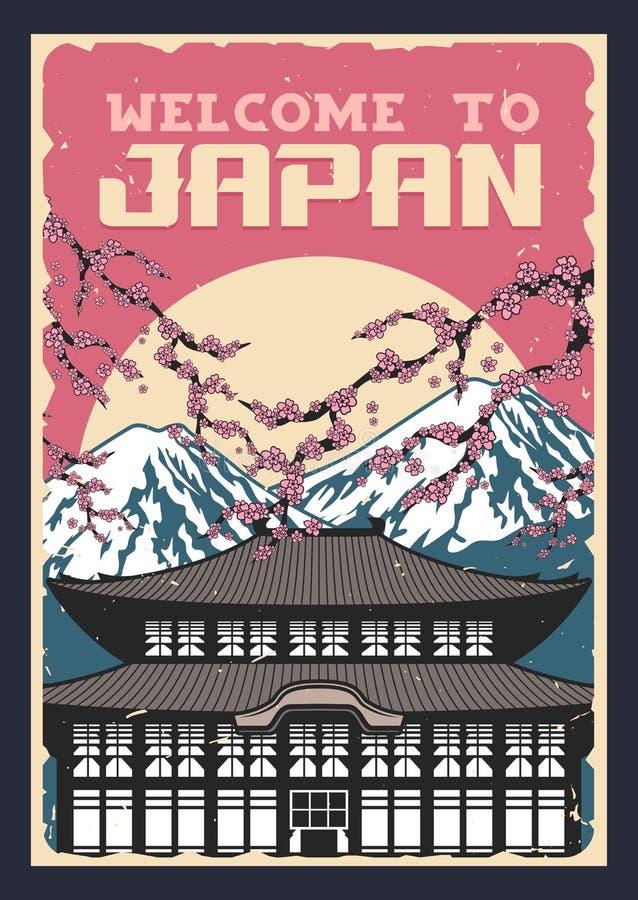 Japanische Kultur, Natur und Traditionen stock abbildung