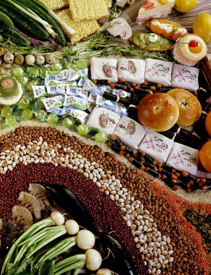 Japanische Lebensmittelgeschäfte stockbild