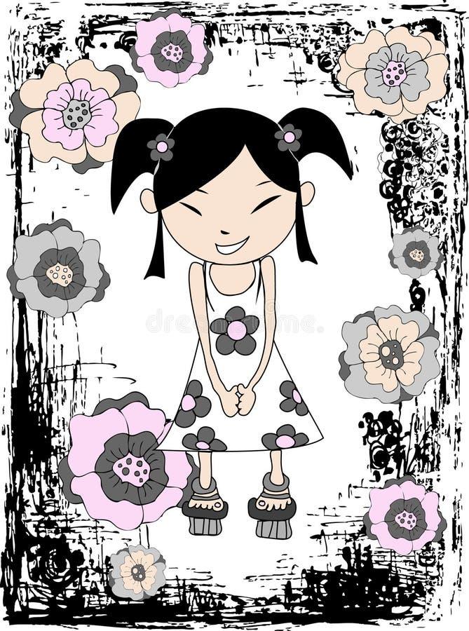 Japanische Mädchenabbildung lizenzfreie abbildung