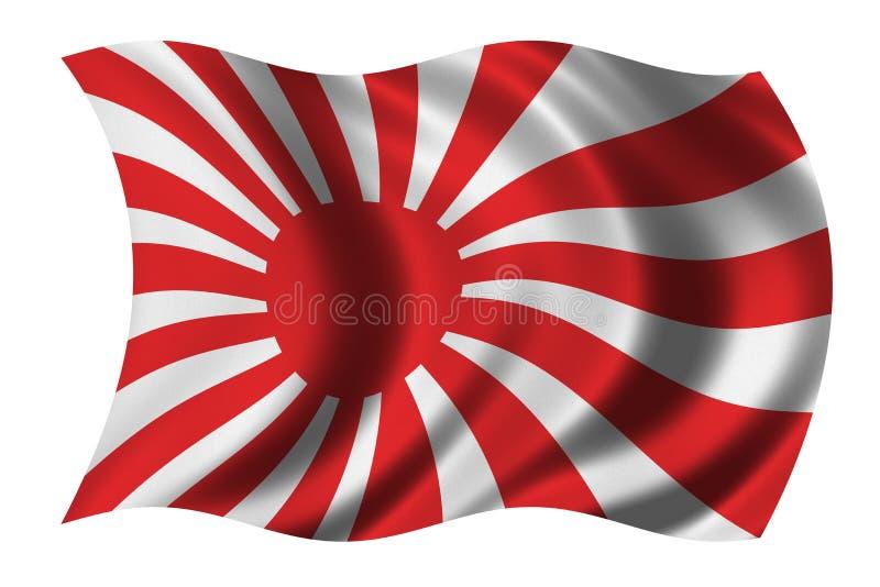 Japanische Marinemarkierungsfahne lizenzfreie abbildung