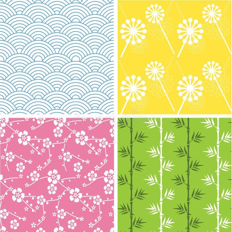 Japanische Muster stock abbildung