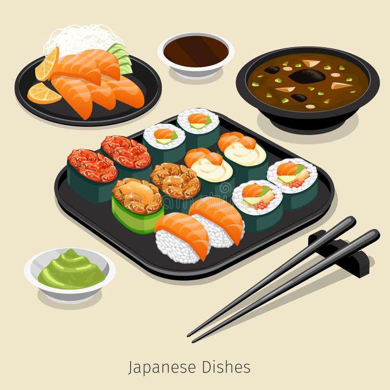 Japanische Nahrung vektor abbildung