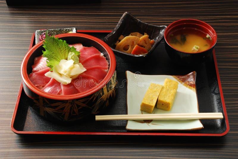 Japanische Nahrungsmittelgesetzte Mahlzeit stockbild