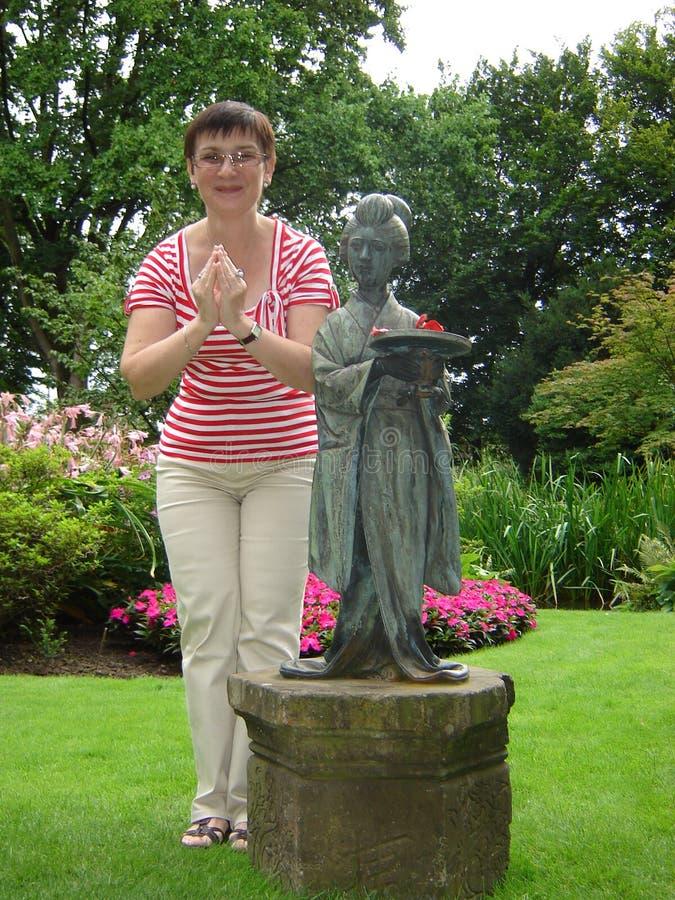 Japanische ogród w Leverkusen zdjęcia stock