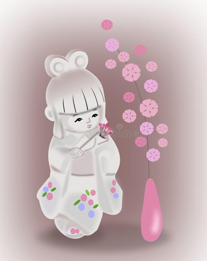 Japanische Puppe lizenzfreie abbildung