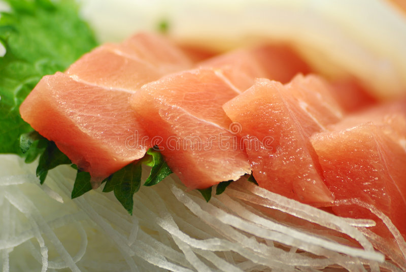 Japanische rohe Fische lizenzfreies stockfoto