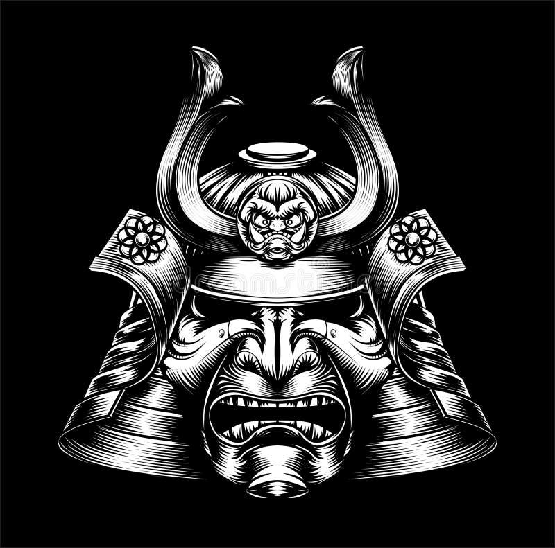 Japanische Samurai-Maske lizenzfreie abbildung
