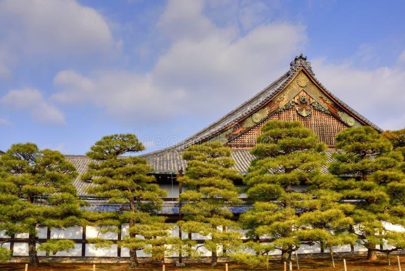 Japanische Schloss-Landschaft stockfotografie