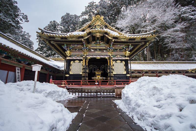 Japanische shintoistische buddhistische Tempel in Nikko stockfotos
