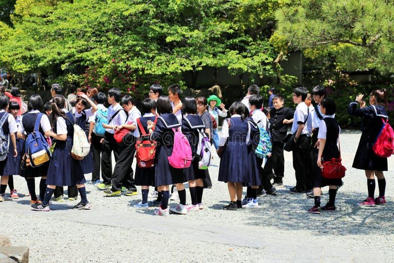 Japanische Studenten stockbild