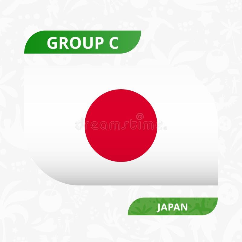Japanische Teamflagge, gemacht in der Fußballwettbewerbsart stock abbildung