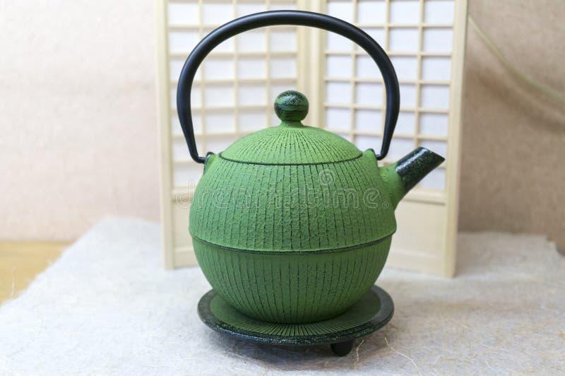 Japanische Teekanne stockfotografie