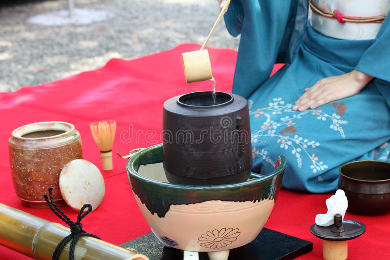 Japanische Teezeremonie lizenzfreies stockfoto