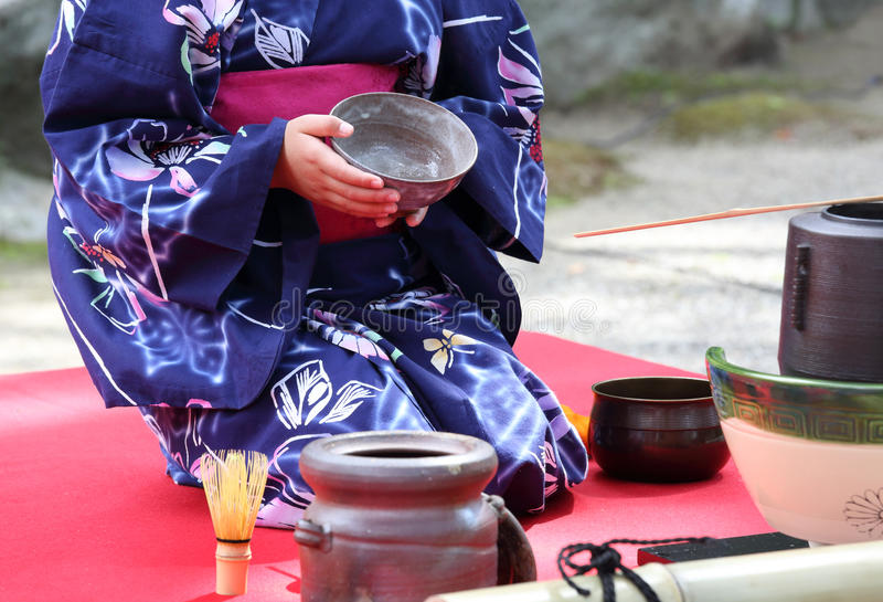 Japanische Tezeremonie lizenzfreies stockbild