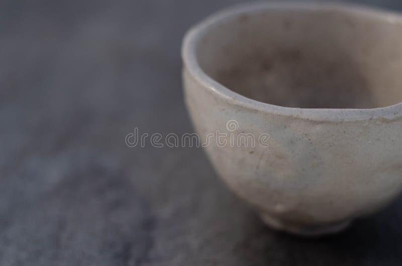Japanische Tonwaren-Schüssel Raku stockfoto