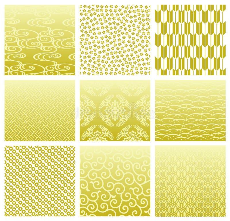 Japanische traditionelle Muster lizenzfreie abbildung