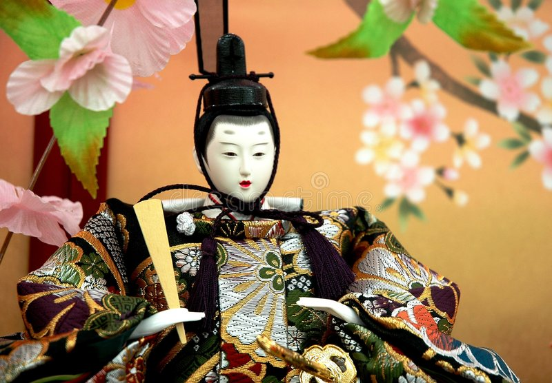 Japanische traditionelle Puppe - Mann stockbild
