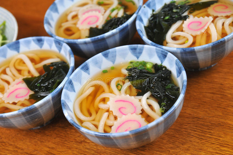 Japanische Udonnudeln stockfoto