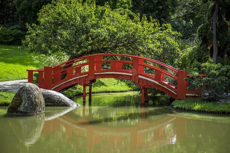 Japanischer allgemeiner Garten in Toulouse in Frankreich lizenzfreies stockfoto