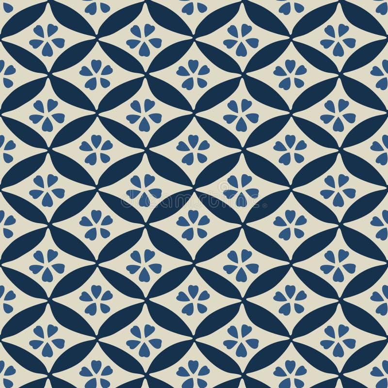 Japanischer Cherry Blossom Geometric Pattern lizenzfreie abbildung