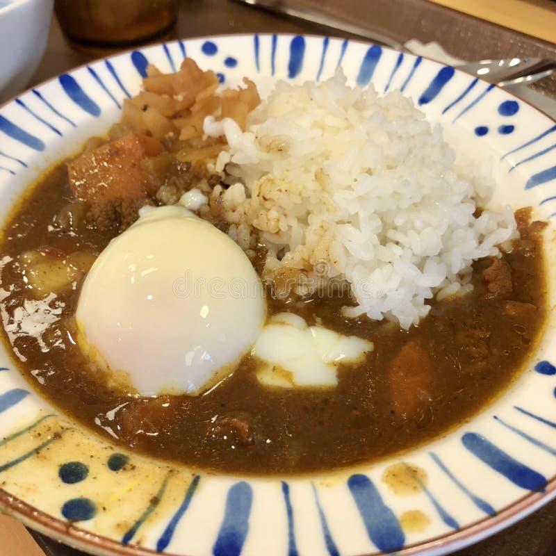 Japanischer Curryreis lizenzfreies stockbild