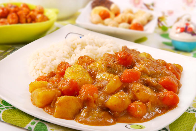 Japanischer Curryreis stockbild