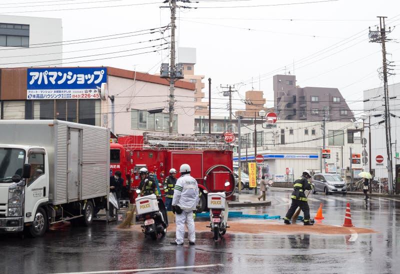 japanischer Feuerwehrmann lizenzfreie stockfotos