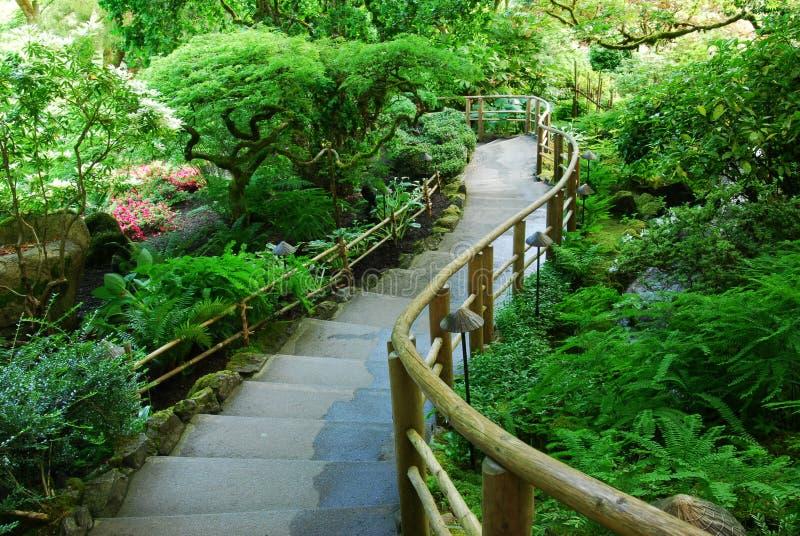 Japanischer Garten in den butchart Gärten stockbilder