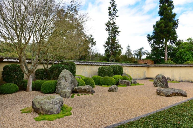 Japanischer Garten der Betrachtung in Hamilton Gardens stockfoto