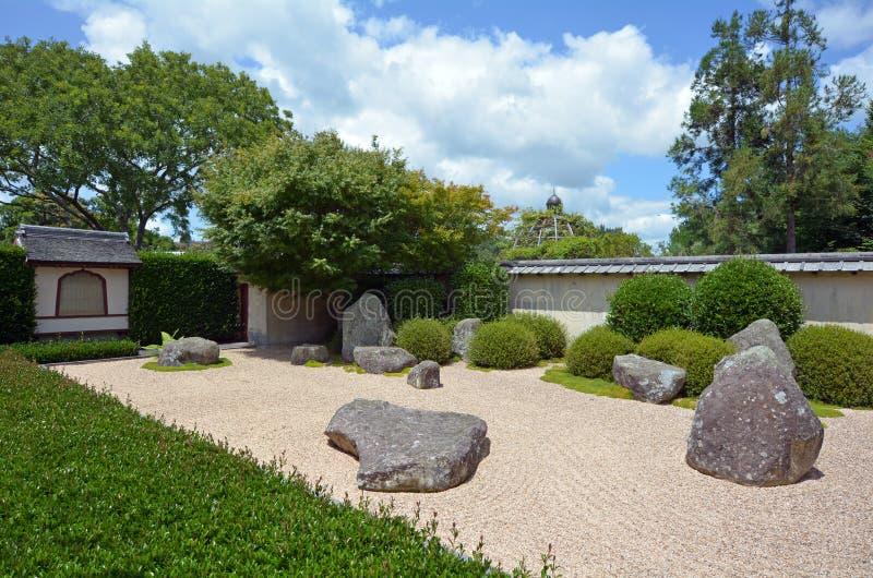 Japanischer Garten der Betrachtung in Hamilton Gardens - neues Zeala lizenzfreie stockfotos