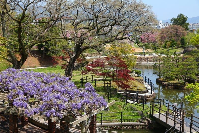 Japanischer Garten, Himeji lizenzfreie stockfotos