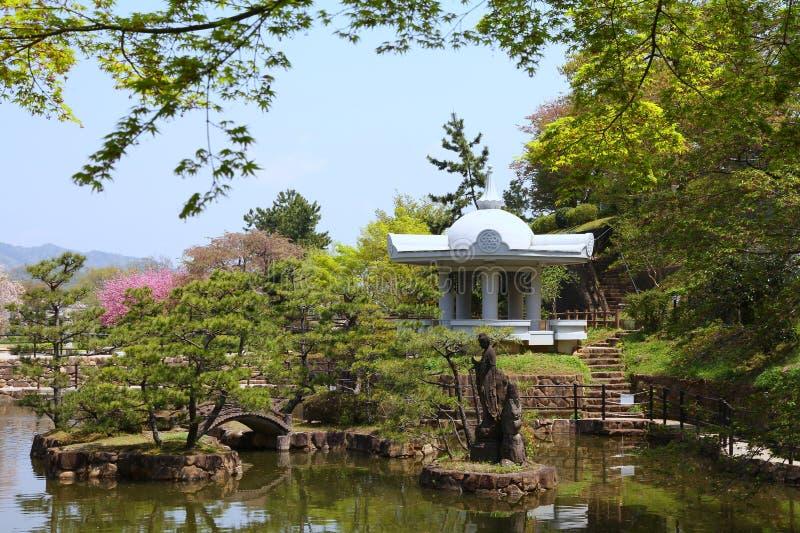Japanischer Garten, Himeji stockbild