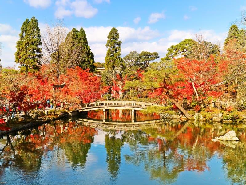 Japanischer Garten im Herbst in Kyoto, Japan stockbild