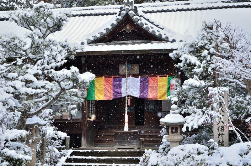 Japanischer Garten in Kyoto, Winter lizenzfreie stockbilder