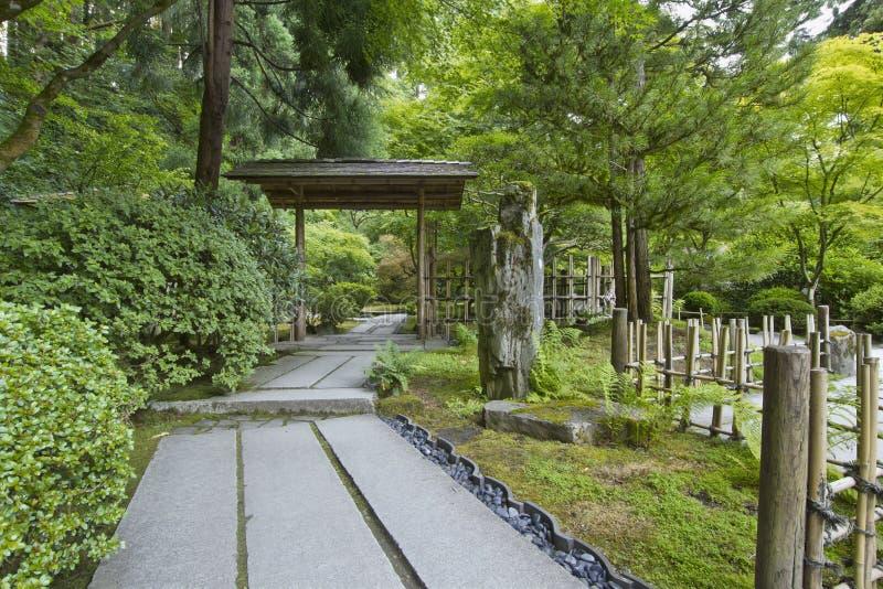 Japanischer Garten-Pfad lizenzfreie stockbilder