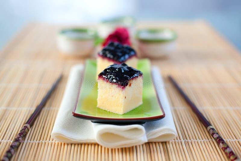 Japanischer Käsekuchen lizenzfreies stockfoto